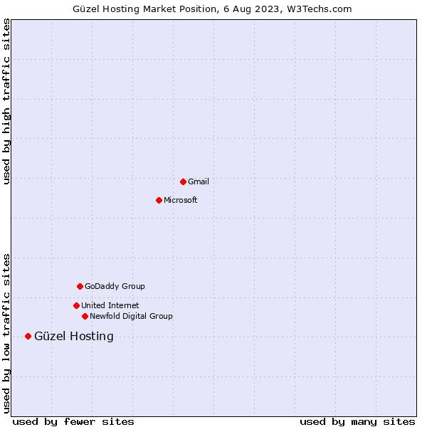 Market position of Güzel Hosting